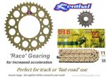 RACE GEARING: Renthal Sprockets and GOLD DID VX2 Chain - Honda CBR 600 F (2001-2007)